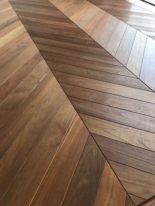 Bespoke Engineered Wood Flooring Chevron Hungarian Point Blocks available from Original Oak Flooring. Showrooms at Solstice Park, Wiltshire with large display panels