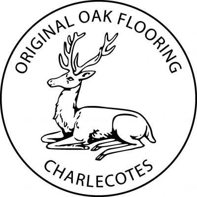 Charlecotes Original Oak Flooring logo with recumbent stag