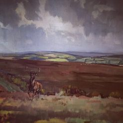 Original Peter Biegel Oil on Canvas Devon and Somerset Staghounds