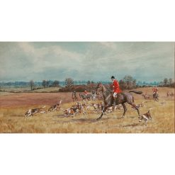 Artist F. A. Stewart - Essex Hunt Original Watercolour