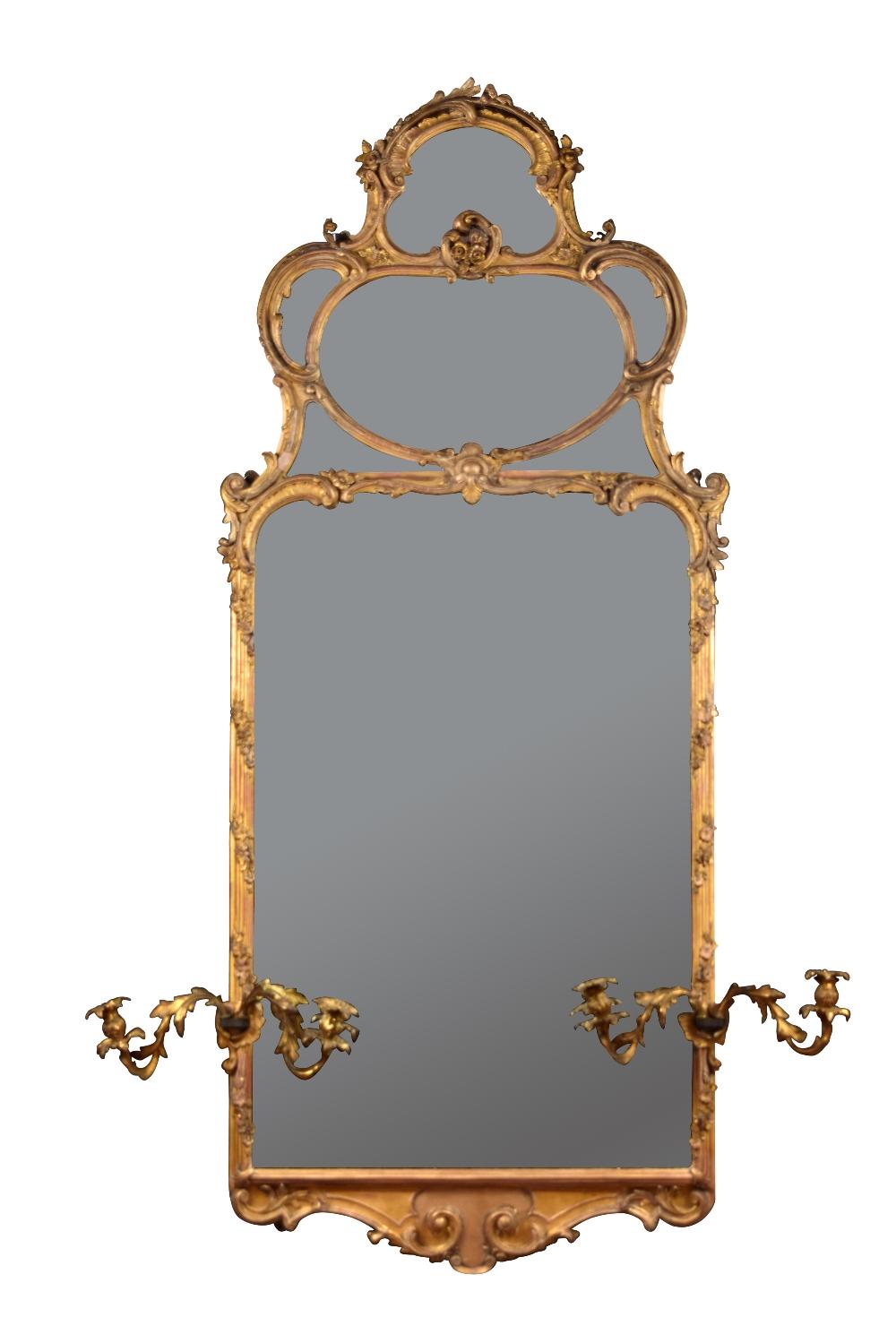 Fine Quality Original Large Antique Gilt Pier Wall Mirror With Cast Gilt Brass Candle Sconces Charlecotes Original Oak Flooring