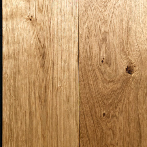 Fine Quality 300mm Wide Engineered Oak Plank Flooring with a natural oil available from Original Oak Flooring at Solstice Park Wiltshire, 300mm x 18mm x 2200mm. A, B, C, D Rustic Grade with brown filled knots. P.GCEE DSLV