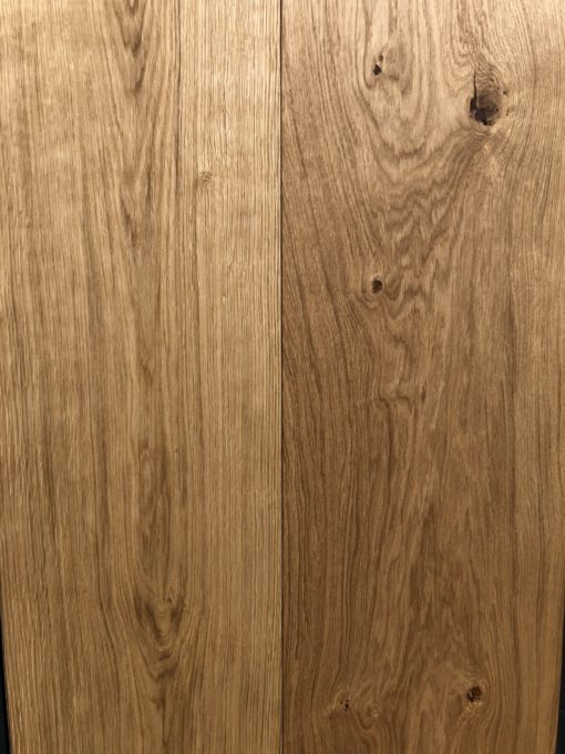 Fine Quality 300mm Wide Engineered Oak Plank Flooring with a natural oil available from Original Oak Flooring at Solstice Park Wiltshire, 300mm x 18mm x 2200mm. A, B, C, D Rustic Grade with brown filled knots. P.GCEE