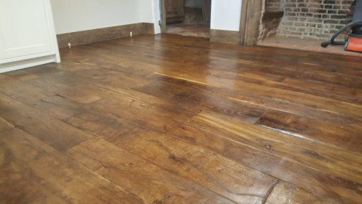 Original Antique Reclaimed Solid Oak Wood Flooring Floorboards
