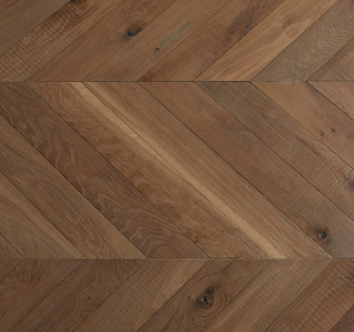 Engineered Oak Chevron Wood Floors Bespoke Aged - Miellin EH