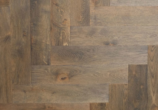 Engineered Oak Herringbone Parquet Blocks with brushed face finished with Hardwax Oils