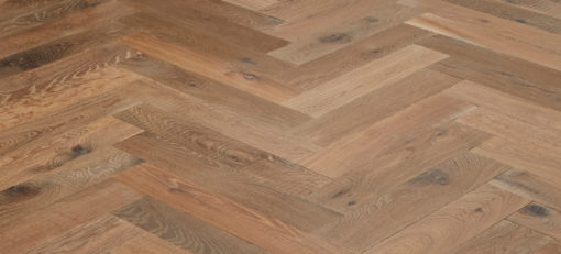 Engineered Oak Herringbone parquet Block Wood floors - Aged - Champagney (TT)