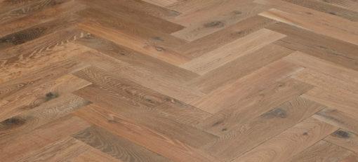 Engineered Oak Herringbone parquet Block Wood floors - Aged - Champagney (TT)
