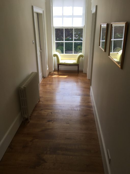 Bespoke Solid or Engineered Oak Wood Flooring with traditional finish