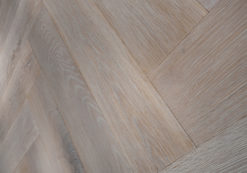 Limed Oak Finish Oak Herringbone Blocks