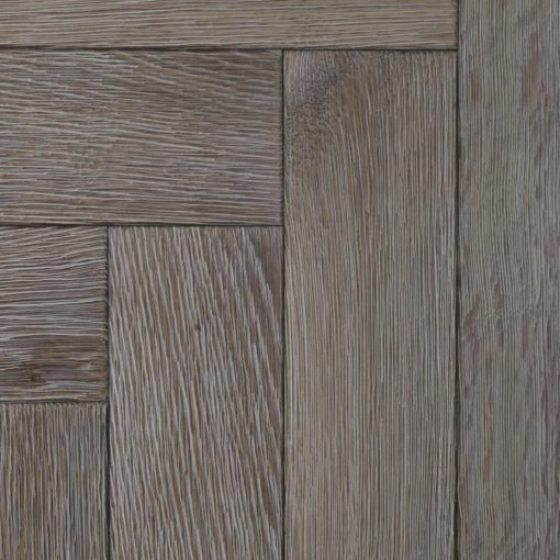 Bespoke Washed Weathered Engineered Oak Herringbone Parquet Blocks