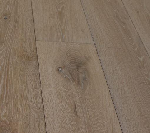 Reclaimed Bespoke Engineered Oak Plank Flooring White Washed Finish`
