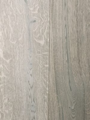 Fine Quality Wide Engineered Oak Wood Flooring Planks finished in a grey natural hardwax oil 220mm width x 20mm thickness x 2400mm lengths available from Original Oak flooring in Wiltshire - Delivery Nationwide - Visit the showrooms to explore large sample display panels. P.CUEE-FSTAKIASP