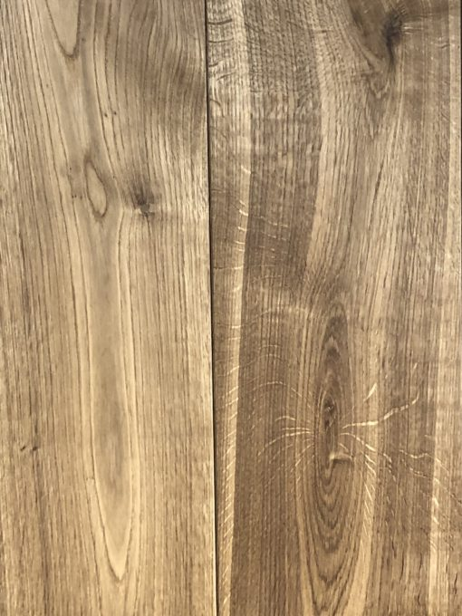 Fine Wide Engineered Oak Wood Flooring / Planks with a Smoked & Natural Hardwax Oil Finish. 220mm Wide x 20mm Thickness x 2400mm Lengths available from Original Oak Flooring in Wiltshire. Visit our showrooms to explore large display sample panels - Nationwide Delivery. PIEEE-FSSTAKISMOKOIL
