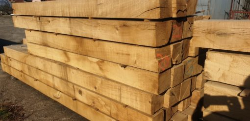 Green Oak Structural Beams 150mm x 150mm - 6 inches x 6 inches & Equestrian Oak Fencing Posts & Rails available from Original Oak Flooring. Hampshire, Dorset, Wiltshire, Somerset, Sussex, Berkshire, Cotswolds, Gloucestershire