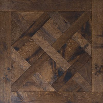 Versailles Panels Engineered Oak Flooring Character Grade-Hand Aged-Brushed & Slightly Undulating Face800mm x800mmx 20mm available from Original Oak Flooring at Solstice Park Wiltshire. Nationwide Delivery-SW NO-woot