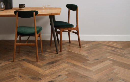 Engineered Oak Herringbone Parquet Wood Floors Hand Aged PDQCH03-Champagney-herringbone