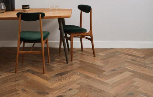 Engineered Oak Herringbone Parquet Wood Floors Hand Aged PDQCH03-Champagney-herringbone