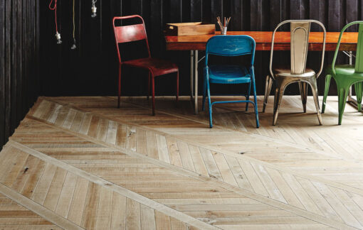 Fine Engineered Oak Chevron Parquet Wood Floors - Dalston-chevron