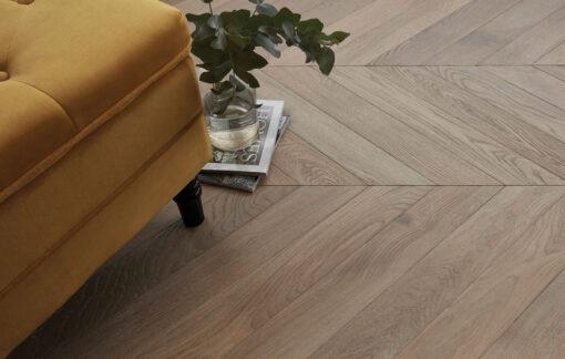 Fine Chevron Parquet Engineered Oak Wood Floors - fleece-chevron-cameo-warehouse